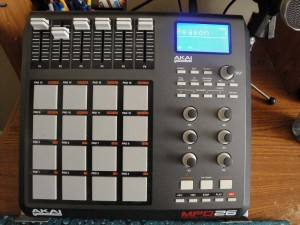 Insight Disciple's Akai MPD26 drum machine