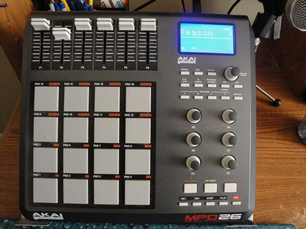 Insight Disciple's Akai MPD26 drum machine